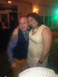 Morvarid wearing a dress that did not fit when she started Personal Trainer Foods' Altered Wedding Weight Loss Challenge 2014