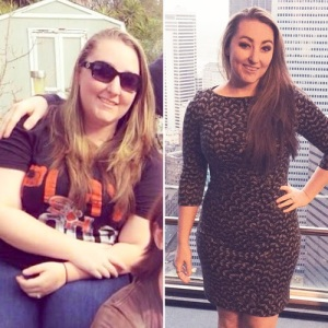 Sonay before and after she lost weight with Personal Trainer Food and Altered!